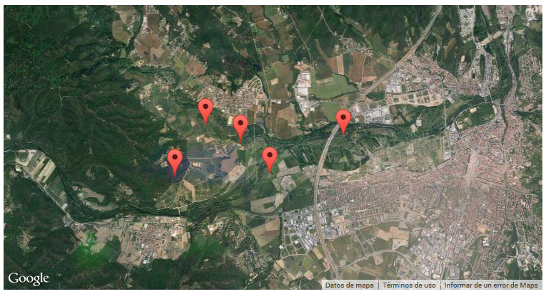 nuestro mapa con 5 marcadores