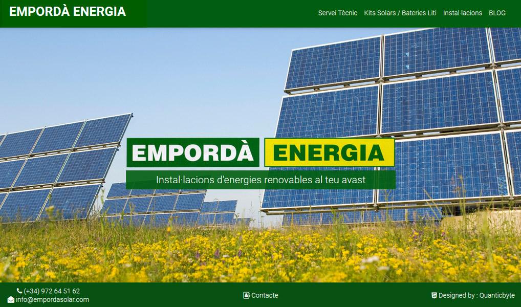 nueva web EmpordaSolar